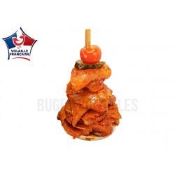 Mini kebab de poulet tomate & basilic